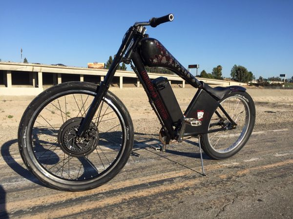 Custom Aluminum Frame Chopper With New 40mph Electric Motor And