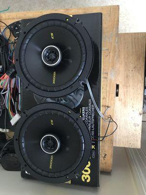 Black kicker speakers