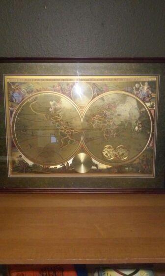 Double hemisphere world map globe foilamsterdam 1660 general in double hemisphere world map globe foilamsterdam 1660 gumiabroncs Gallery