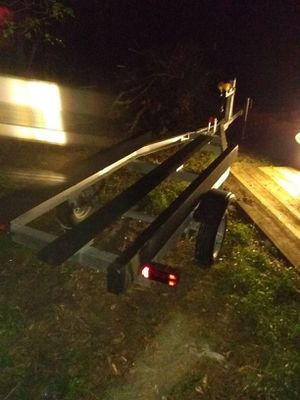 Aluminum boat trailer like new good tires LED lights all the way