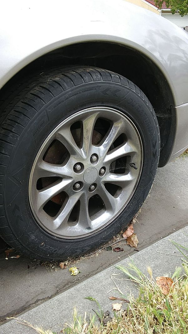 Selling these 4 tires they on a Chrysler 300 1999 its my dads old ...