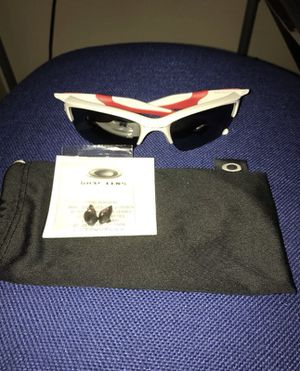 Red and White Oakley Sunglasses