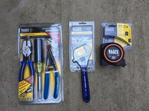 """""""New"""" Klein Tools 8"""" Wrench, Plier, Wire Stripper, (5-in-1) Nut Driver & 25 ft. Tape - $80"""