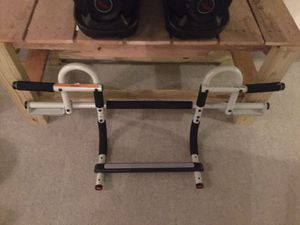 Perfect multi-gym pro. Doorway pull up bar portable gym.