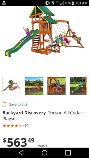 Backyard Tucson Swing set