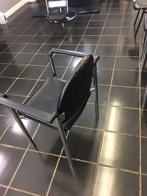 (8) black waiting room chairs