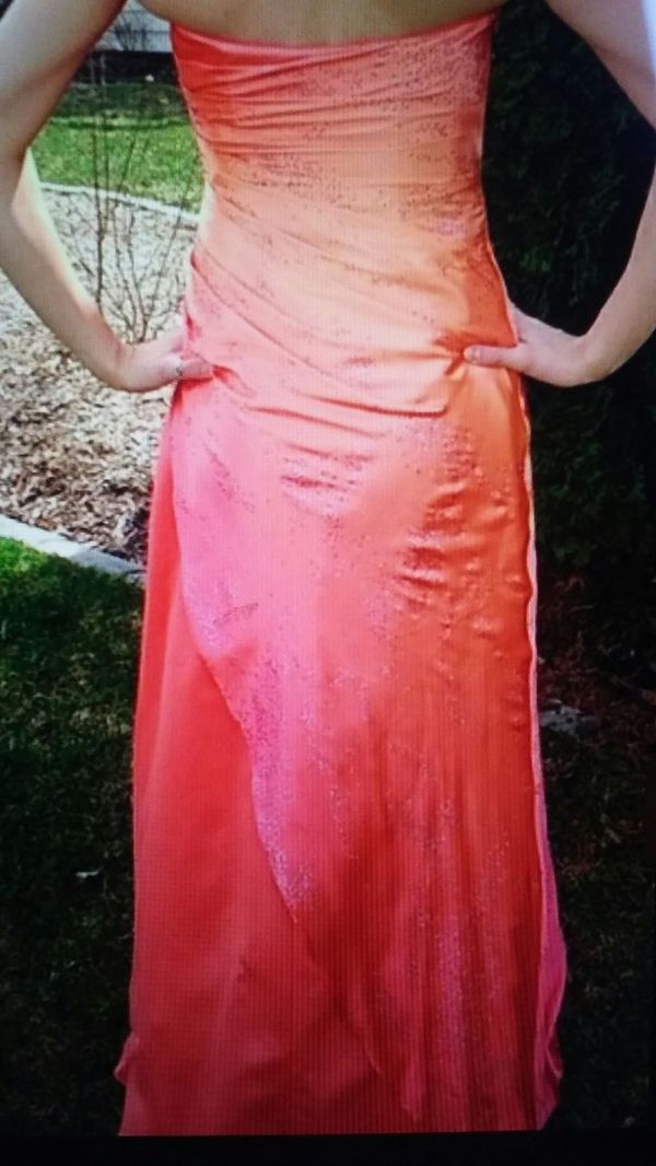 Coral and Orange glitter prom dress (Clothing & Shoes) in Des Moines ...