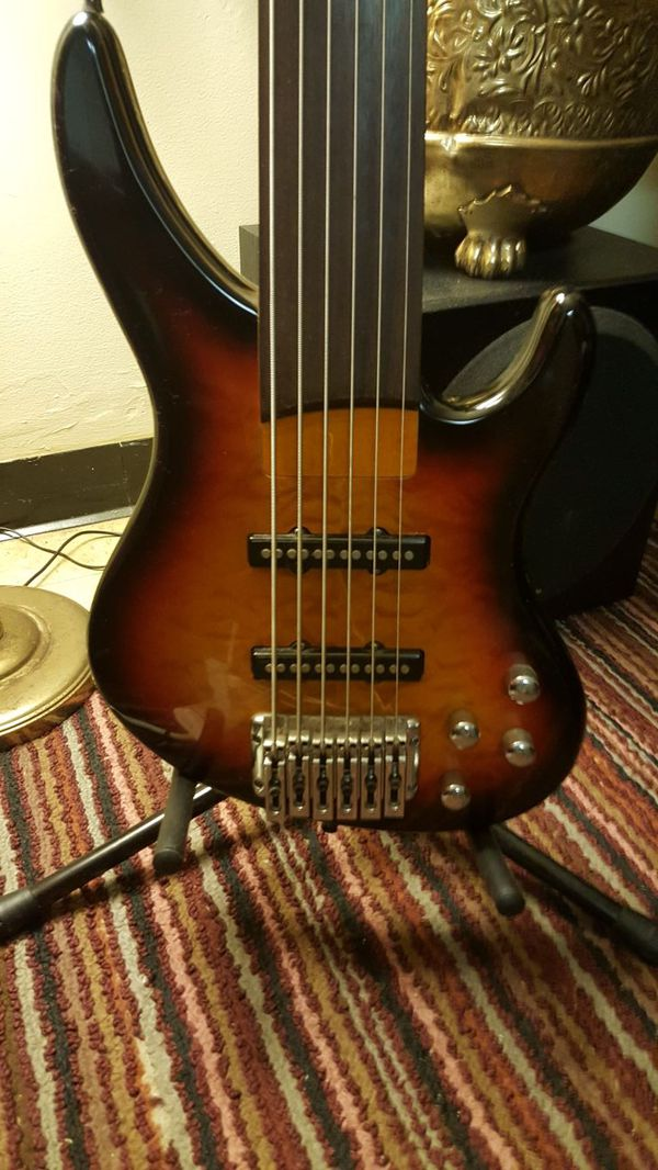 Douglas 6 String Fretless Bass Guitar