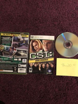 Xbox360 CSI hard evidence
