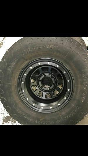 """35"""" Tires and Black wheels"""