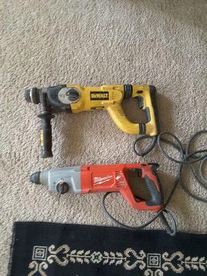 rotaris hammer drill dewalt y Milwaukee precio firme no ofertas gracias