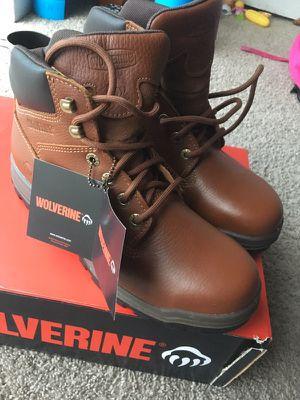 New wolverine waterproof steel toe size 8 1/2