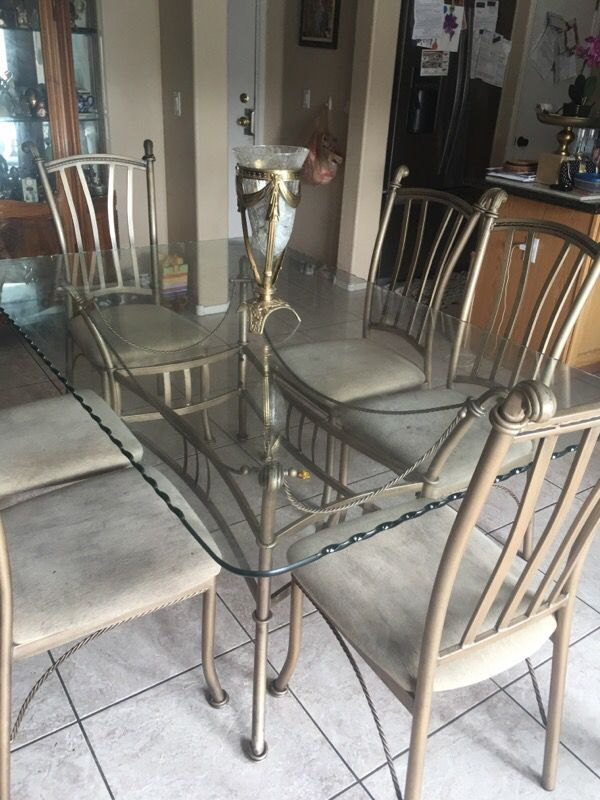 6 Seaters Thick Glass Dining Appliances In Las Vegas Nv