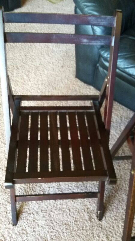 Two wooden folding chairs furniture in everett wa offerup for Furniture in everett wa