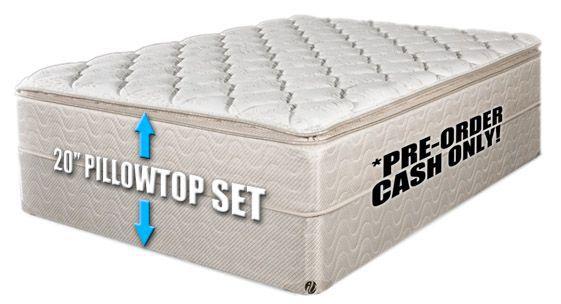 king pillow top mattress. 20 Inch Thick New King Pillow Top Mattress Set.