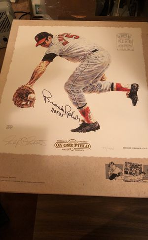 Awesome Autographed Brooks Robinson, HOF Baltimore Orioles Limited Edition Art Piece!