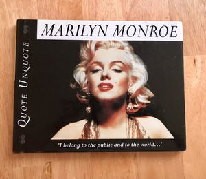 Marilyn Monroe: Quote Unquote Book by Janice Anderson