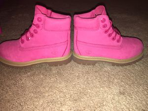 "Pink Timberland 6"" Premium Boots - Girls Toddler Size 10c"