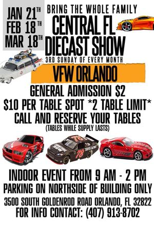 Die cast and toy show today Sunday 21st 9til2