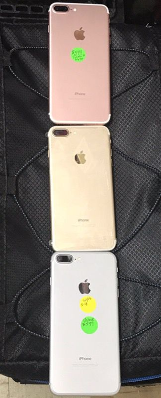 IPhone 7 Plus Rose Gold Silver And Black 500 Simple Cricket Net 10 T