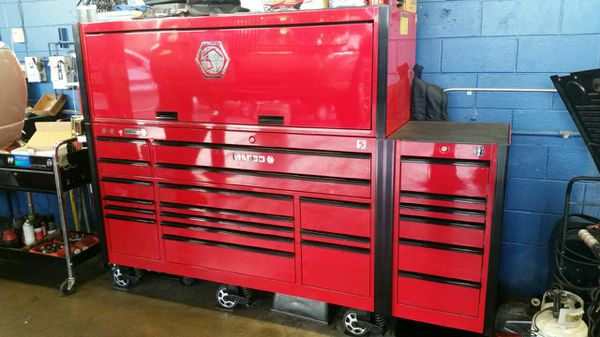 MATCO 5S TOOL BOX WITH SIDE CABINET AND TALL HUTCH (Tools ...