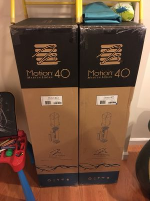 Unopened Martin Logan Motion 40 Speakers
