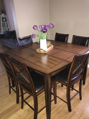 Counter Height Dining Table With 6 Chairs