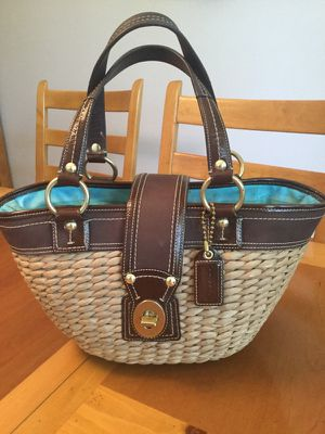 Coach Legacy straw handbag
