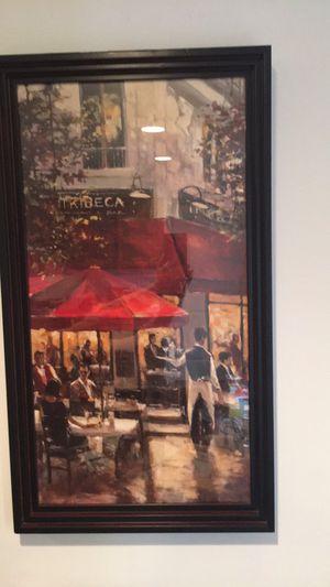 Cafe framed painting
