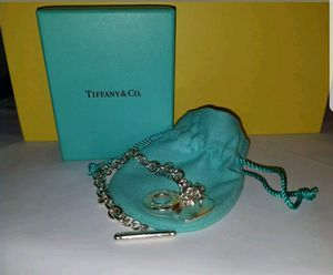 AUTHENTIC  Tiffany & Co. 925 Silver Toggle Heart Bracelet