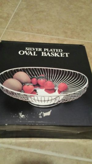 Oval basket new in box
