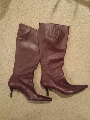 J.Crew Burgundy Leather Boots