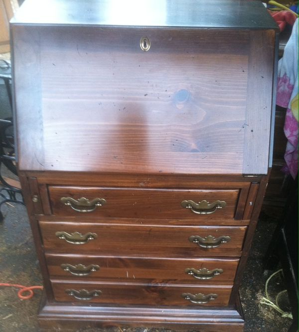 Small Secretary Desk Solid Wood Furniture In Tacoma Wa Offerup