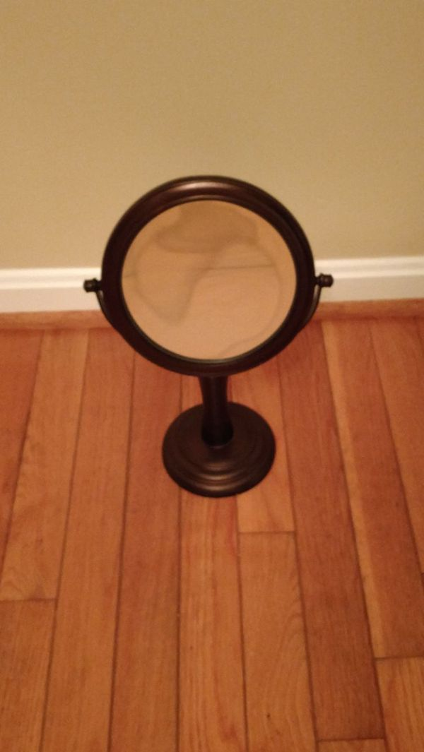Two sided vanity mirror..oiled bronze finish