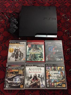 Playstation 3 with 6 Games and 1 wireless Controller