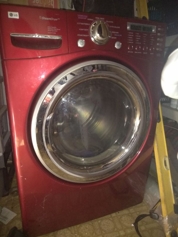 GE RightHeight GFWR4805FRR FrontLoading Washer Ruby Red retail