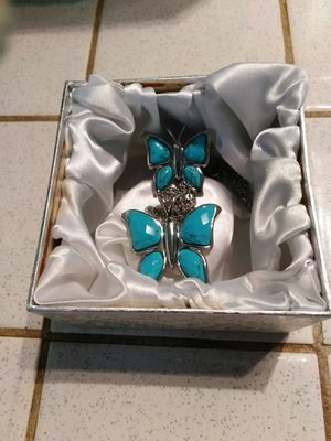 Stainless Steel Butterfly Ring And Neckless