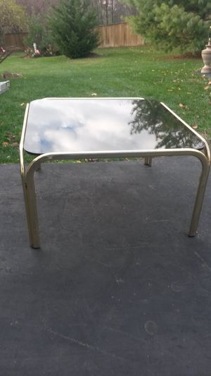 Solid brass and glass coffee table