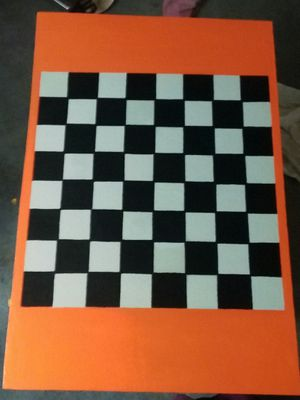 Custom painted checker boards and peices