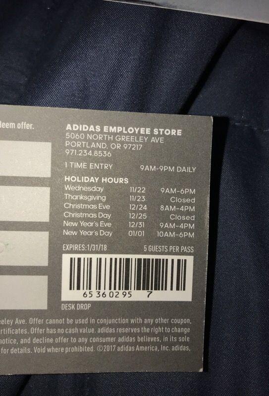 adidas employee store near me