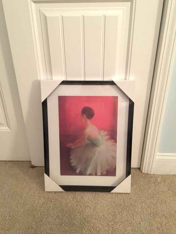 Ballerina with Black Frame UNOPENED 16x21 (Arts & Crafts) in Myrtle ...