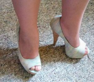 High Heels tiny little different colors and a wood high heel
