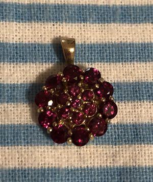 Garnet pendant gold