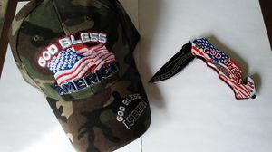 NEW CAMO HAT AND KNIFE SET