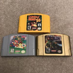 Nintendo 64 video game cartridges n64