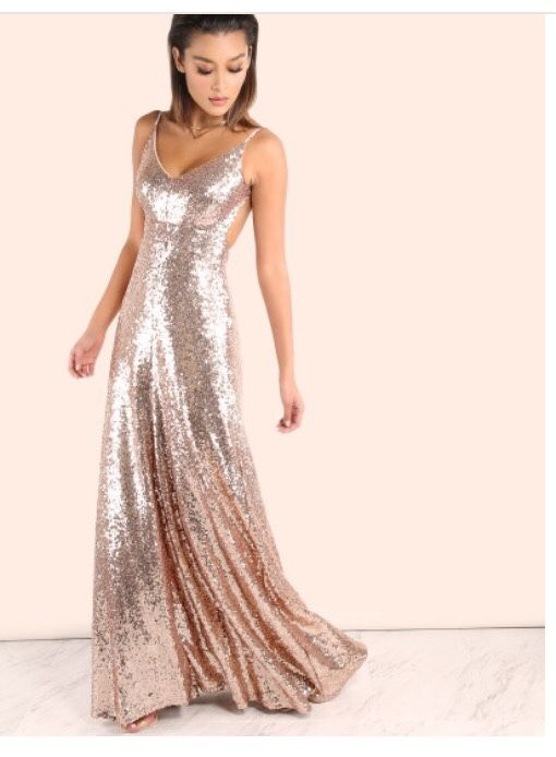 Rose Gold Sequin Gown (Clothing & Shoes) in Tampa, FL