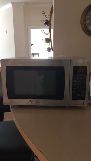 Silver and Black Master Chef microwave oven