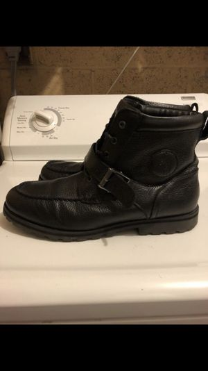 Black Leather Polo Colbey Mid Boot Send offers Price is negotiable