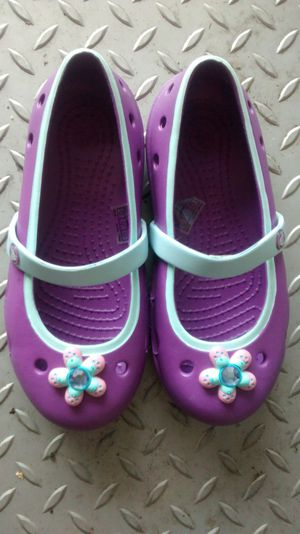 Brand new little girls Mary Jane crocs size 11.