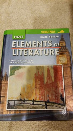 Holt Elements of Literature Sixth Course Hardcover